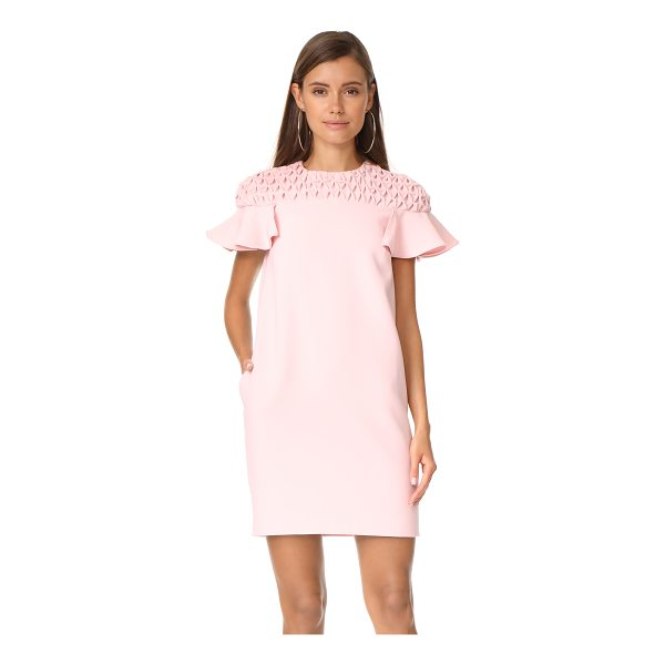 EDIT frill sleeve smock yoke mini dress - Exclusive to Shopbop. Patterned smocking lends dimension to...
