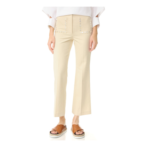 EDUN flare pants - High-waisted EDUN pants in a wide-leg profile. Buttons trim
