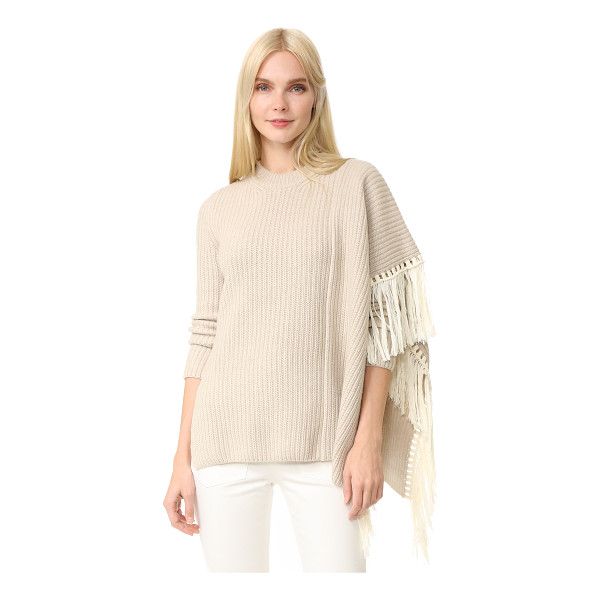 EDUN fringe oversized sweater - A formfitting EDUN sweater in a fine-knit silk blend....
