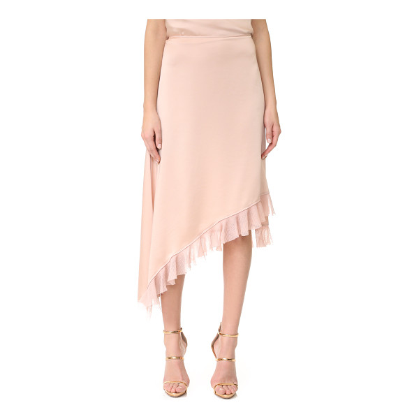 ELIZABETH AND JAMES ailie asymmetric ruffle skirt - Gauze ruffles trace the asymmetrical hem of this Elizabeth...