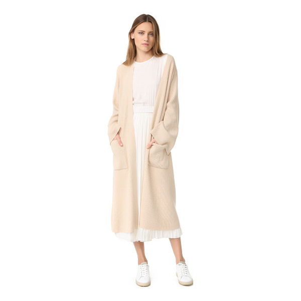 ELIZABETH AND JAMES anya ribbed cardigan - A long, slouchy Elizabeth and James cardigan composed of...