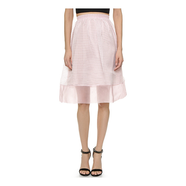 ELIZABETH AND JAMES Avenue skirt - Embroidered ribbons create a grid effect on this Elizabeth...