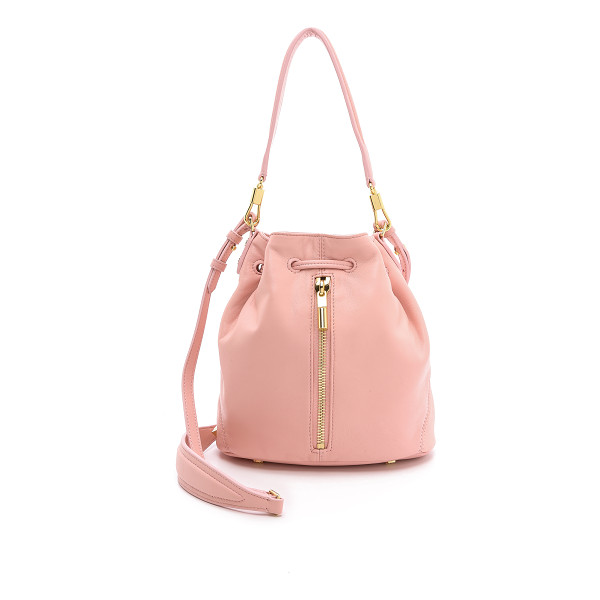 ELIZABETH AND JAMES Cynnie mini bucket bag - Supple lambskin composes a scaled down Elizabeth and James