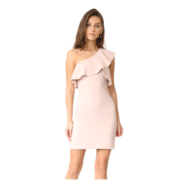 ELIZABETH AND JAMES jerard one shoulder ruffle dress - A laser-cut ruffle trims the one-shoulder neckline on this...
