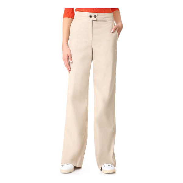 ELIZABETH AND JAMES milo twill trousers - High-waisted Elizabeth and James trousers with a straight,...