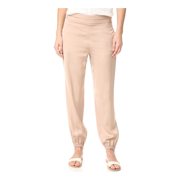 ELIZABETH AND JAMES pascal tapered bottom pants - A polished finish lends a silky feel to these slinky