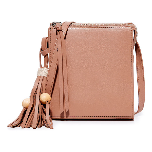 ELIZABETH AND JAMES sara bag - Wood beads accent the tassel on this boxy Elizabeth and...