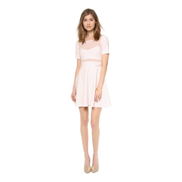 ELIZABETH AND JAMES Selena dress - Filmy chiffon lined cutouts detail the bodice of a fit and...