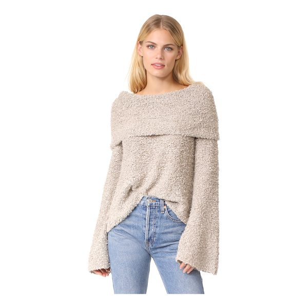 ELIZABETH AND JAMES sophie slouchy neck pullover - This open-knit Elizabeth and James sweater has a slouchy...