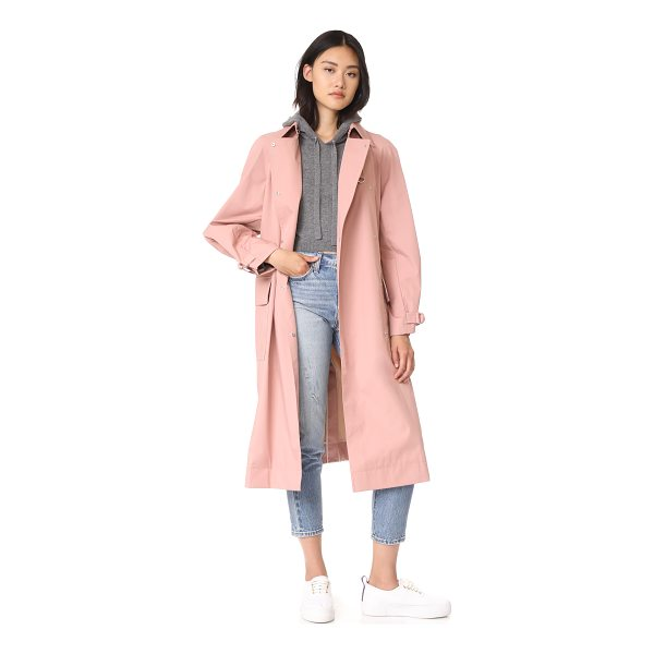 ELIZABETH AND JAMES weston coat with d ring belt - This dusty pink Elizabeth and James trench coat is...