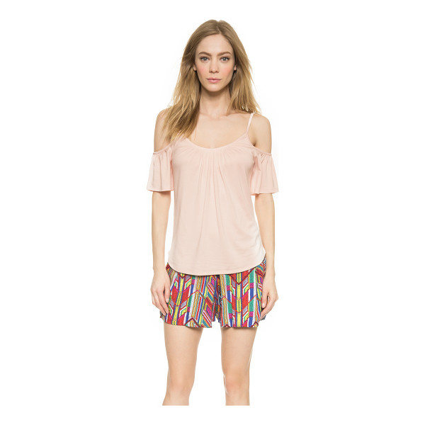 ELLA MOSS Bella cold shoulder tee - Slim straps frame the neckline and cutout shoulders on this...