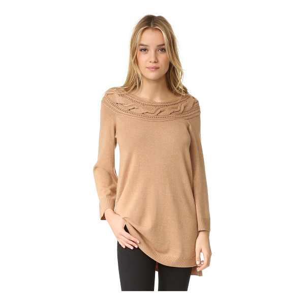 ELLA MOSS Blinda Sweater - This tunic length Ella Moss sweater is styled with a chunky...
