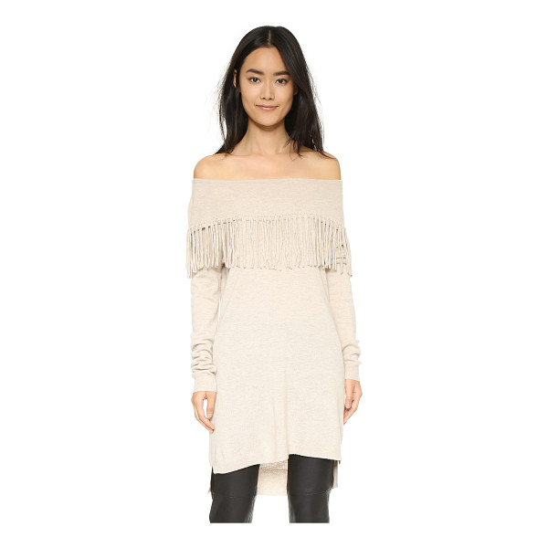 ELLA MOSS Day dreamer tunic sweater - Fringe accents the cowl neckline of this lightweight Ella...
