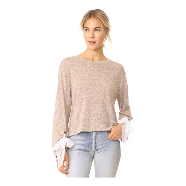 ELLA MOSS nicolette top - This lightweight Ella Moss sweater has chiffon ribbons and...