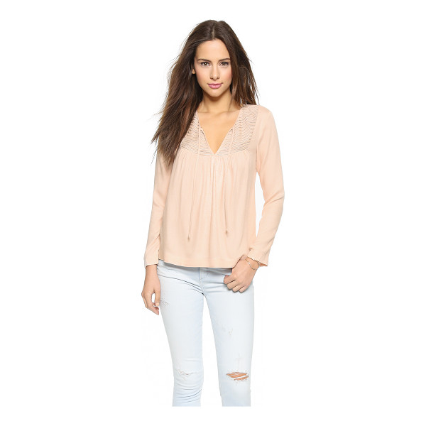 ELLA MOSS Stella blouse - A front keyhole and zigzag stitching accentuate the bodice...
