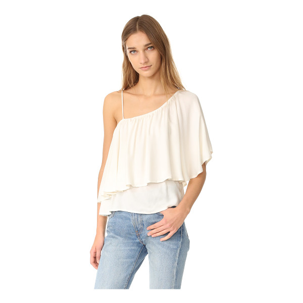 ELLA MOSS stella one shoulder blouse - A flounced overlay details this one-shoulder Ella Moss...