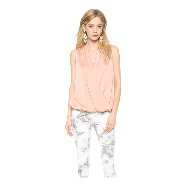 EMERSON THORPE Eden draped sleeveless top - An elastic inset hem adds flattering volume to a breezy...
