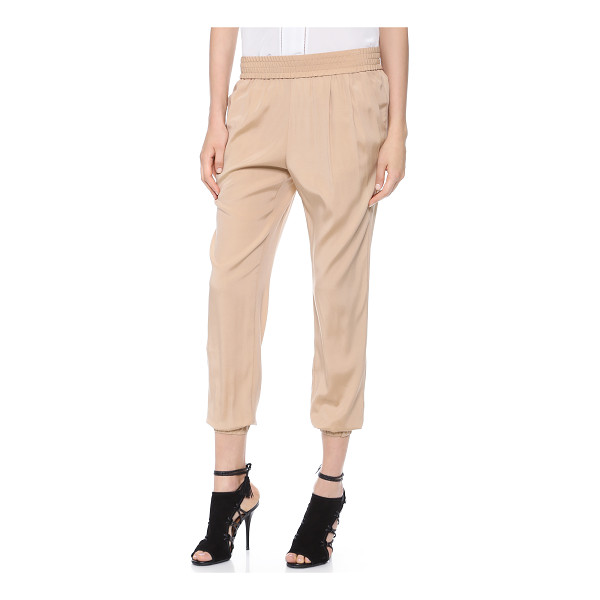 EMERSON THORPE Emilia pants - Silk Emerson Thorpe pants have casual appeal with a slouchy...