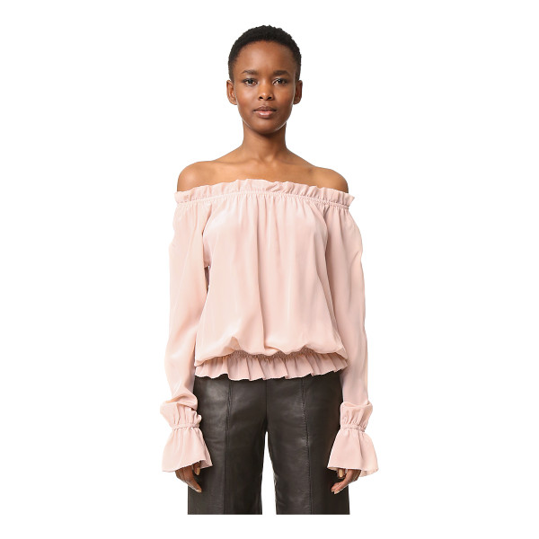 EMERSON THORPE faye off shoulder blouse - A lightweight off-shoulder Emerson Thorpe blouse. Elastic...