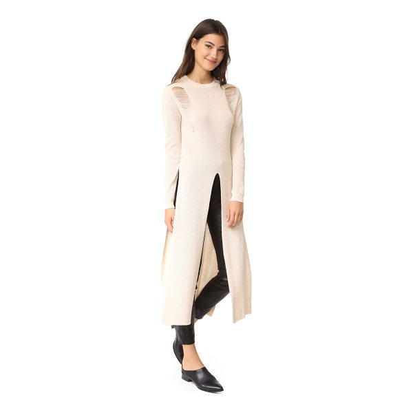 ENDLESS ROSE long knit sweater - This loose endless rose maxi sweater has long slits at the...