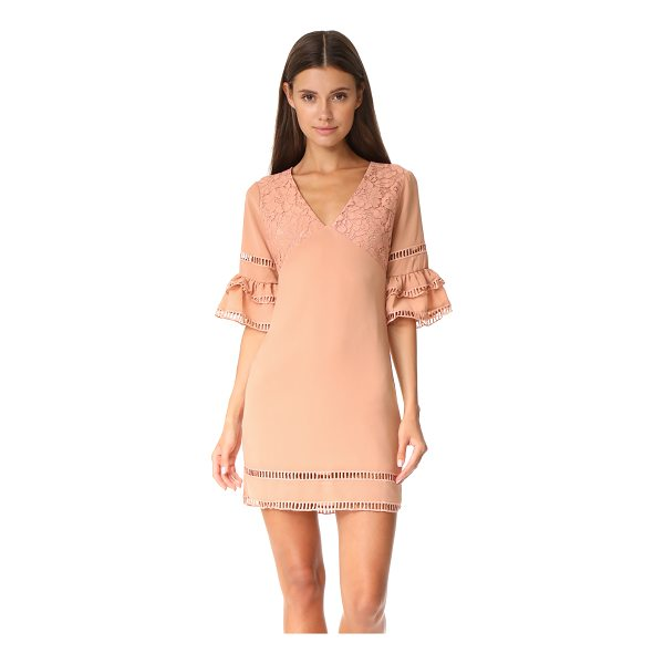 ENDLESS ROSE ruffled sleeve dress with trim detail - An endless rose dress with tiered sleeves and a lace...
