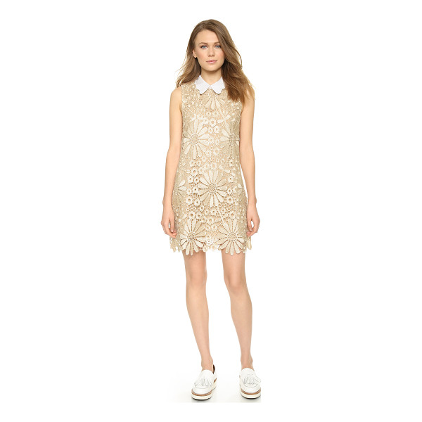 ENGLISH FACTORY Daisy lace shift dress - This lace ENGLISH FACTORY shift dress has a scalloped, fold...