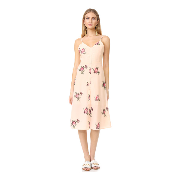 ENGLISH FACTORY floral embroidered midi dress - Colorful, floral embroidery adds charm to this delicate...