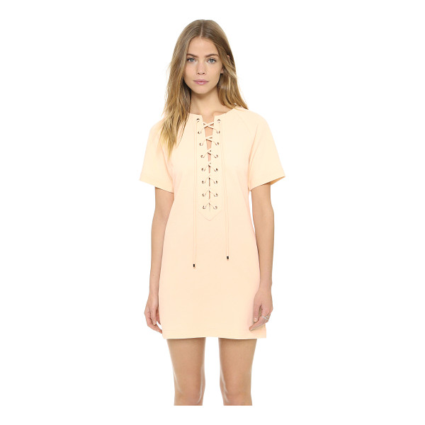 ENGLISH FACTORY English Factory Lace Up Dress - A lace up closure lends an alluring touch to this simple...