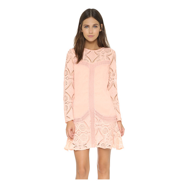 ENGLISH FACTORY Pinky lace dress - Crochet lace creates an illusion neckline on a detail rich...