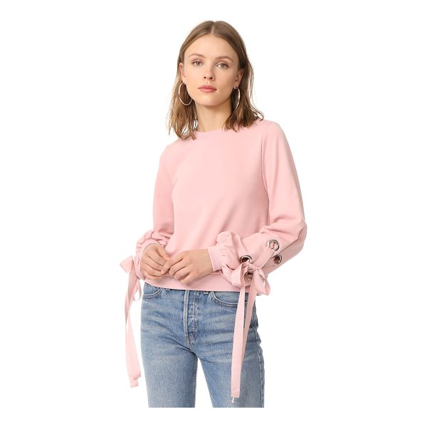 ENGLISH FACTORY tied up sweatshirt - Exclusive to Shopbop. This blush pink ENGLISH FACTORY...