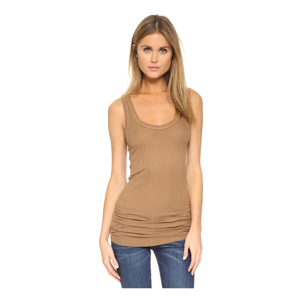 ENZA COSTA Bold ribbed tank - A soft, lightweight Enza Costa tank in a slim silhouette....