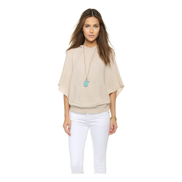 ENZA COSTA Cashmere poncho - A hooded Enza Costa poncho in a luxe cashmere blend. Ribbed...