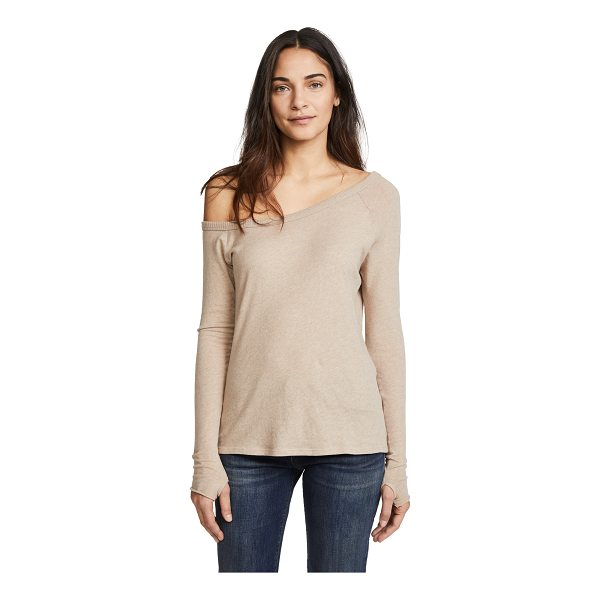 ENZA COSTA long sleeve off the shoulder top - Exclusive to Shopbop Fabric: Knit Pullover style...