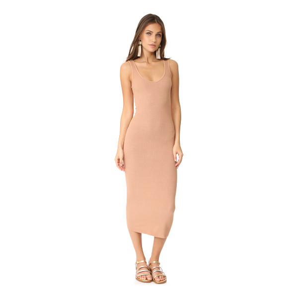 ENZA COSTA ribbed tank dress - A formfitting Enza Costa dress composed of soft jersey. Raw...