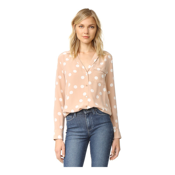 EQUIPMENT keira blouse - Bold polka dots add a playful touch to this pajama inspired...