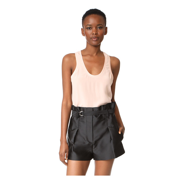 EQUIPMENT mel tank - A delicate silk Equipment tank with a ribbed scoop neckline...