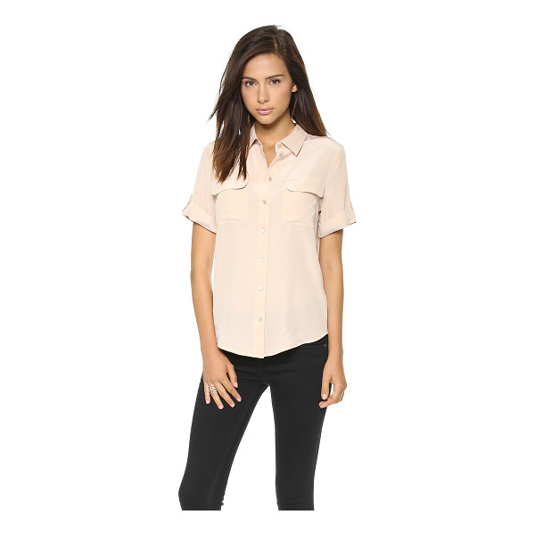 EQUIPMENT short sleeve slim signature blouse - Exclusive to Shopbop. A classic Equipment button-down in...