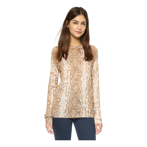 EQUIPMENT Sloane crew neck sweater - Snakeskin print brings a bold touch to this soft Equipment...