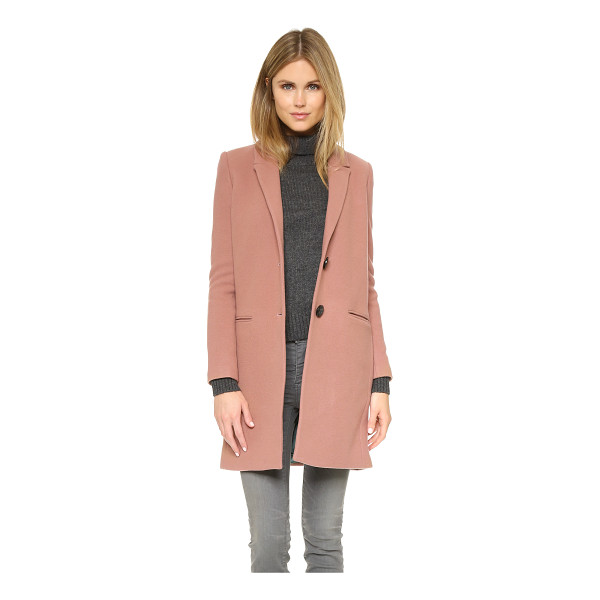 ESSENTIEL Kizzy coat - A simple Essentiel overcoat in soft felt. Notched lapels...