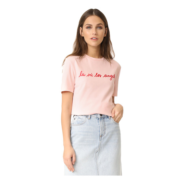 ETRE CECILE la vie los angeles tee - Flocked iron-on 'La Vie Los Angeles' lettering accents the...