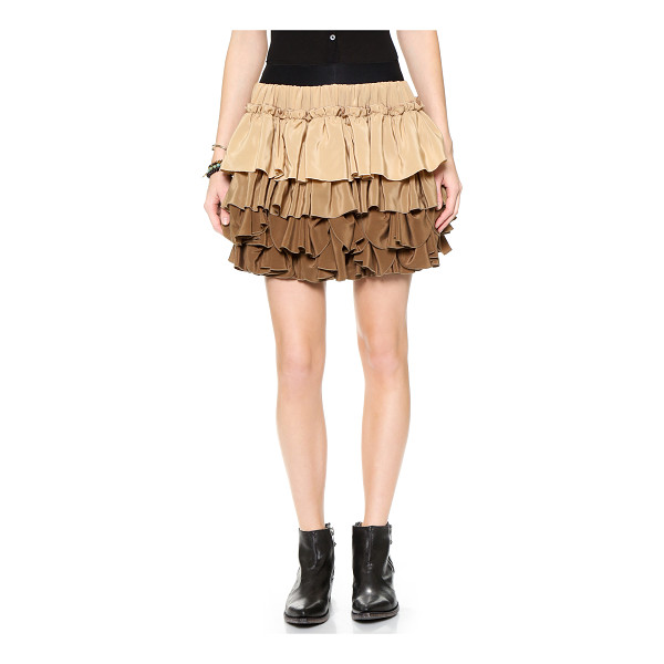 FAITH CONNEXION Silk crepe flounce skirt - Ruffled tiers create an ombré effect on this flirty Faith...