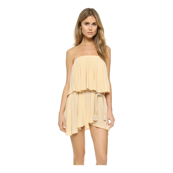FAITHFULL THE BRAND Romy dress - A voluminous overlay accents the bodice of this strapless...