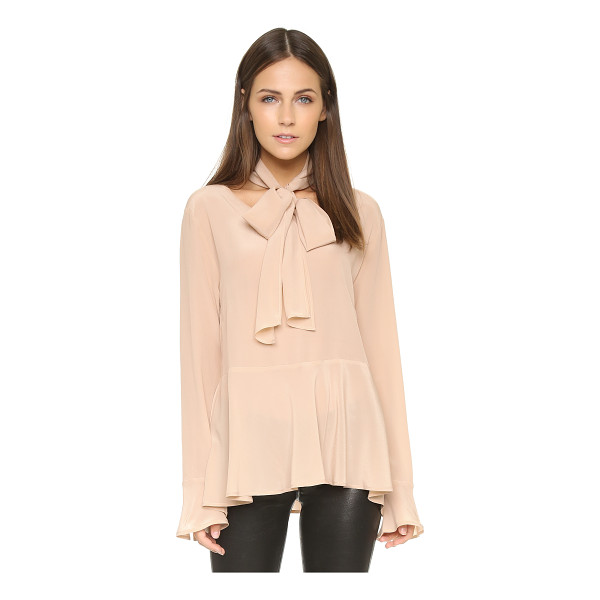 FALCON & BLOOM Tulip tie neck blouse - An optional neck tie accentuates the ladylike feel of this...