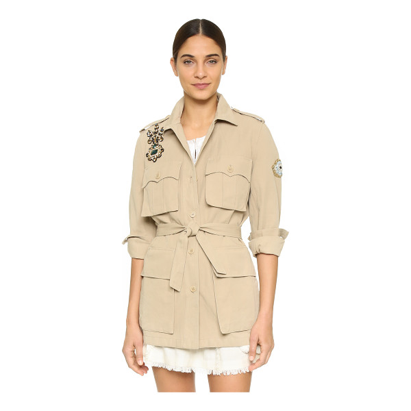 FIGUE Hunter jacket - This crisp Figue coat is detailed with crystal appliqués,...