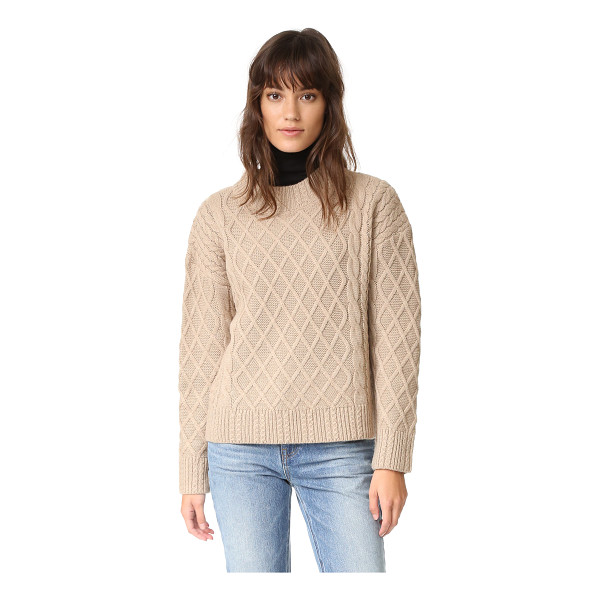 FINDERS KEEPERS odom cable knit sweater - A lattice design adds tactile contrast to this boxy,...