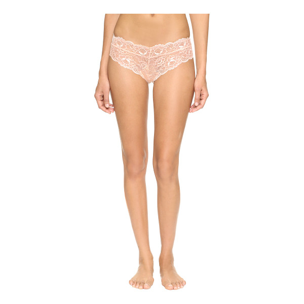 FLEUR'T lacy dainties cheeky panties - Scalloped floral lace details the wide waistband of these...