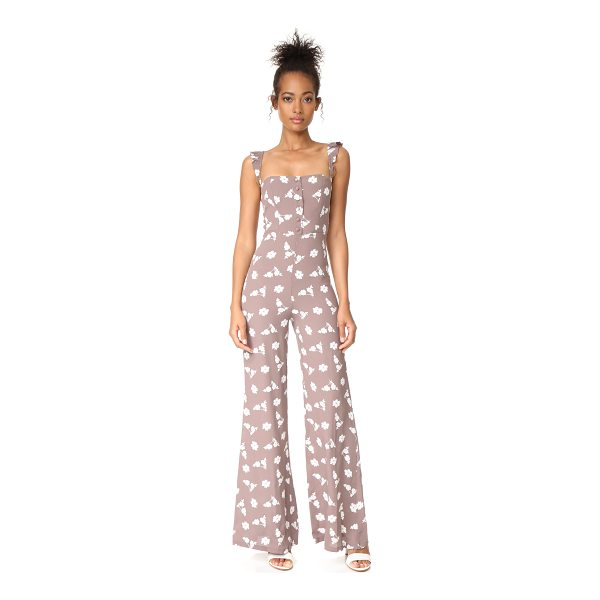 FLYNN SKYE bardot jumper - This floral Flynn Skye jumpsuit has a tailored bodice and...