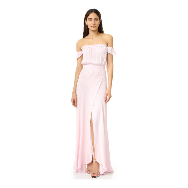 FLYNN SKYE bella maxi dress - Exclusive to Shopbop. Draped panels form an extra high slit...