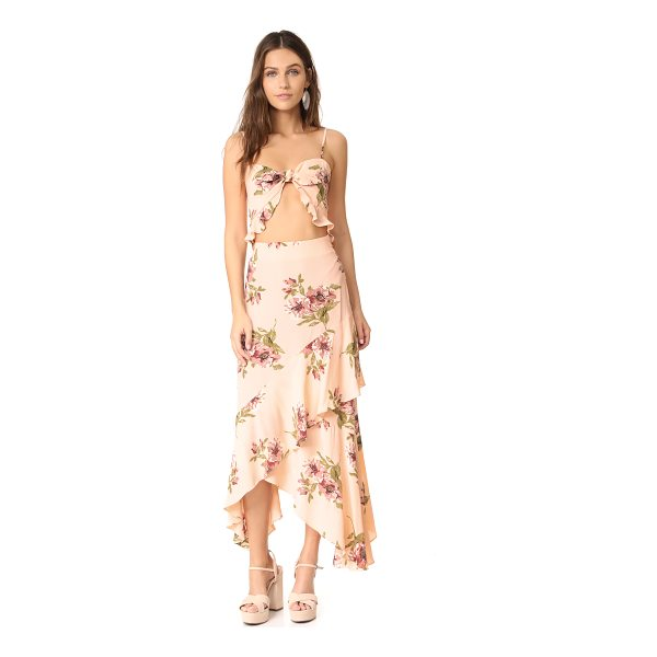 FLYNN SKYE michelle maxi dress - This daring Flynn Skye maxi dress has a tie front closure...