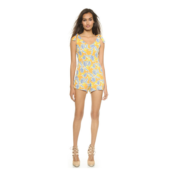 FOR LOVE & LEMONS Aloha romper - A tropical floral print brings bright color to this For...